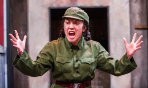 Outstanding performance … Louise Mai Newberry as Tang. Photograph: Tristram Kenton for the Guardian